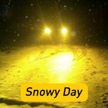 9006 led bulbs on snowy day