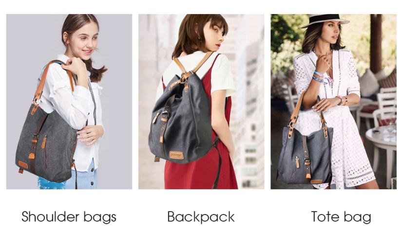 canvas bags Purses for Women Tote bag shoulder bag convertible Backpack