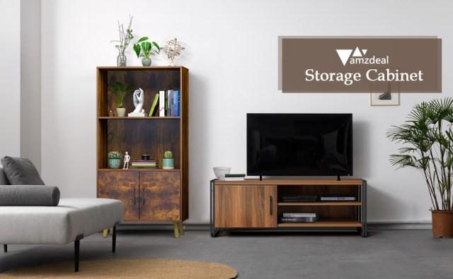 Bookcase Storage Cabinet