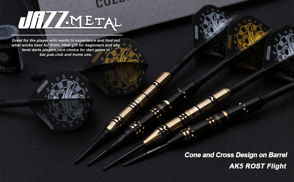 JAZZ METAL 6PCS METAL STEEL TIP DARTS