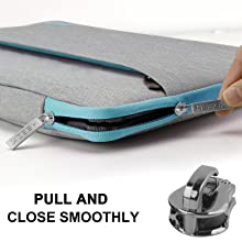 5HSEOK Slim Laptop Sleeve 15 15.6 16 inches Case Water resistant Briefcase Gray