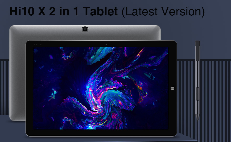 Hi10 X tablet with keyboard and stylus