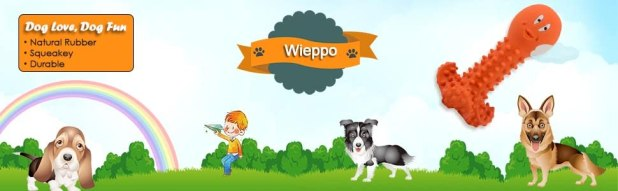 wieppo dog squeaky chew toy for aggressive chewers