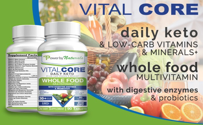 Vital core dail Keto and low-carb vitamins and minerals wholefood multivitamin with probiotic