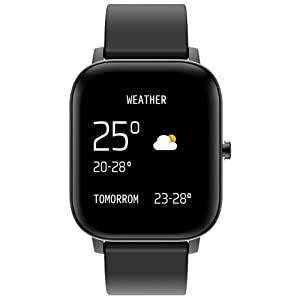 smart watch with weather report
