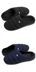 Womens Comfortable Plush Fleece Lined Home Slippers Memory Foam House Shoes Rubber Sole Flat Slipper