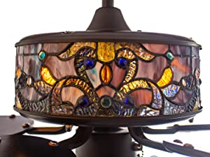 River of Goods Stained Glass Ceiling Fan