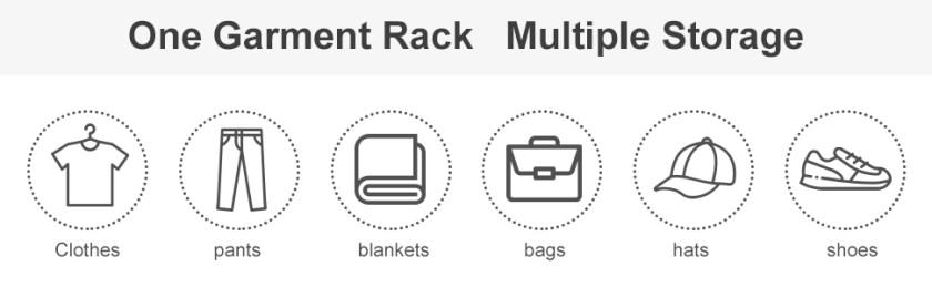 one garment rack multiple storage