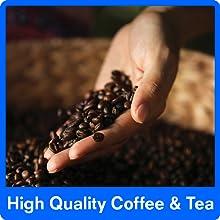 high quality coffee and tea