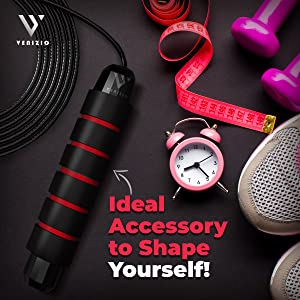 Essential home gym accessories fitness skipping rope weight loss
