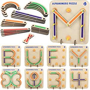 ButterflyFields Alphabets Numbers Construction Puzzle for kids 5 years and adults