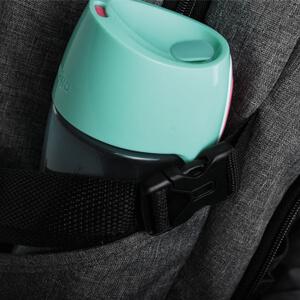 laptop backpack side pockets water bottle umbrella adjustable safe secure holding clasps deep
