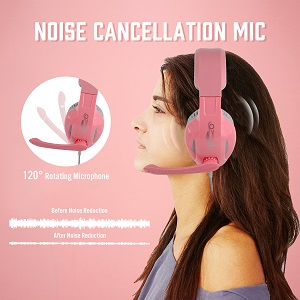 Gaming headset pink