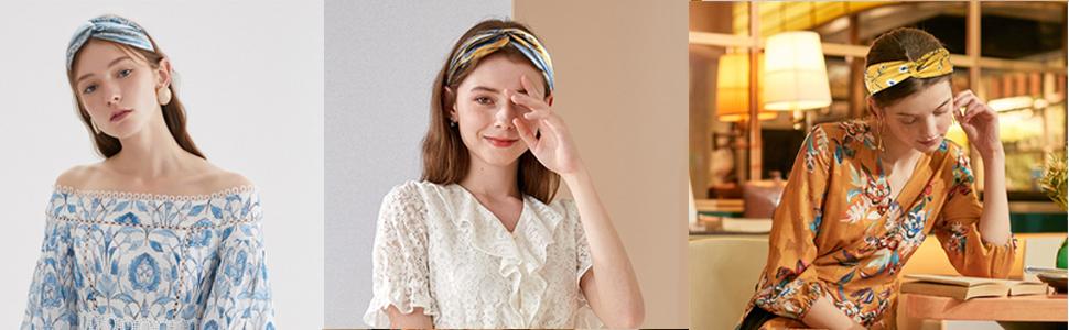 20 Pcs Boho Headband for Women