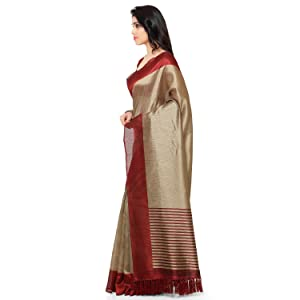 Rajnandini Women's Ethnic Wear Tussar Silk Printed Saree