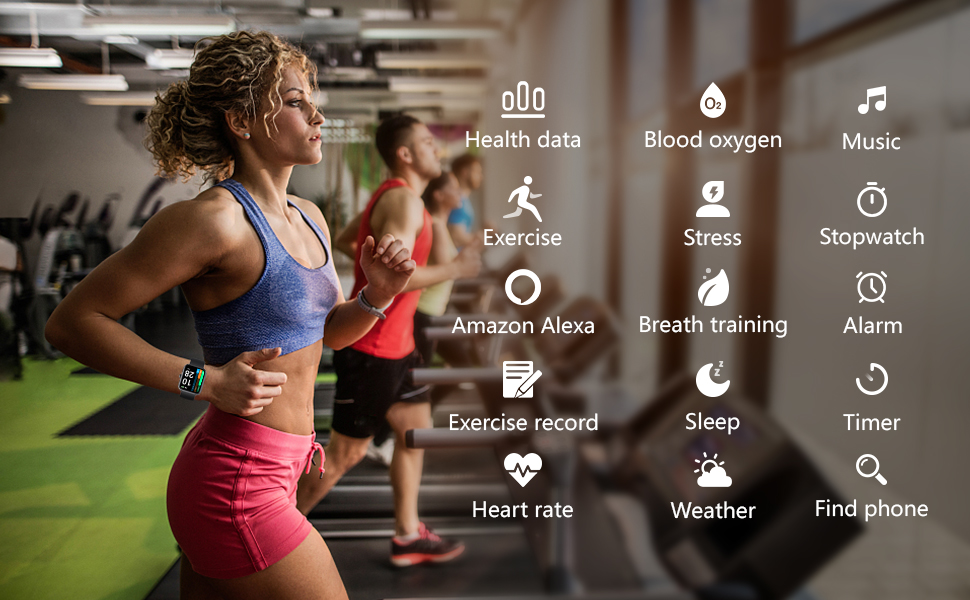 14 Sports Modes Health Tracker Watch Smart Notifications Customized Watch Faces