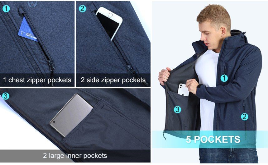 zippered pockets