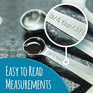 Engraved, easy-to-read measurements!