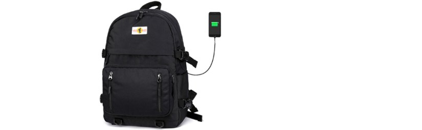 flymei black backpack for boys school bookbags