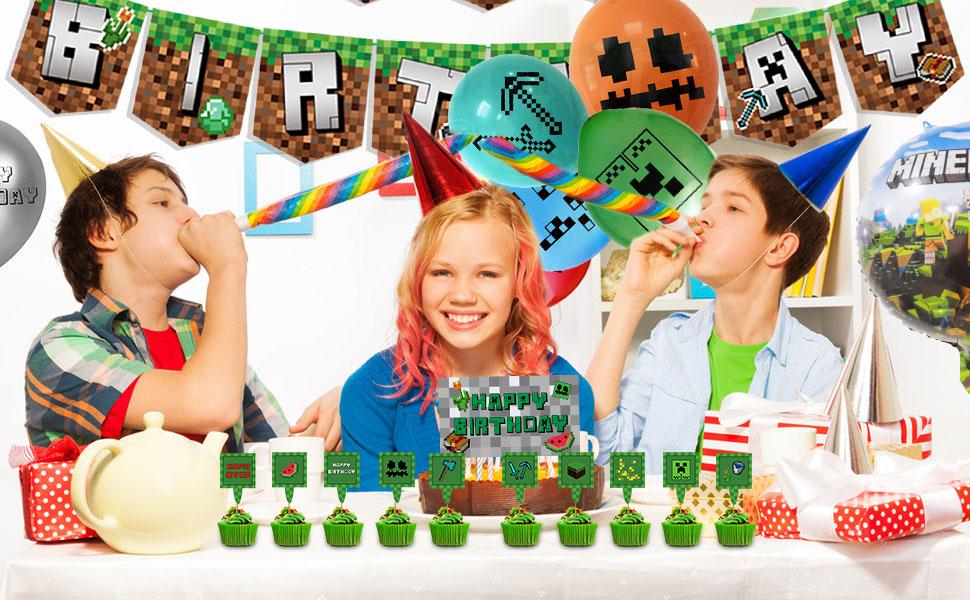 Minecraft geburtstag Partyzubehör Set