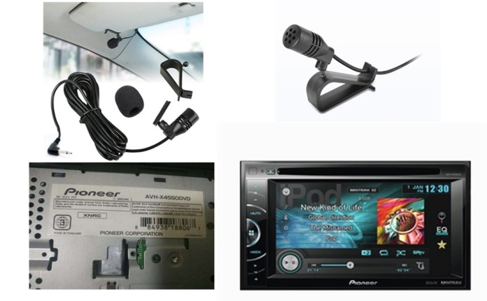 pioneer microphone for car radio With 2.5mm Input.