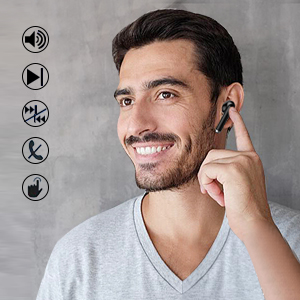 Headphone touch control