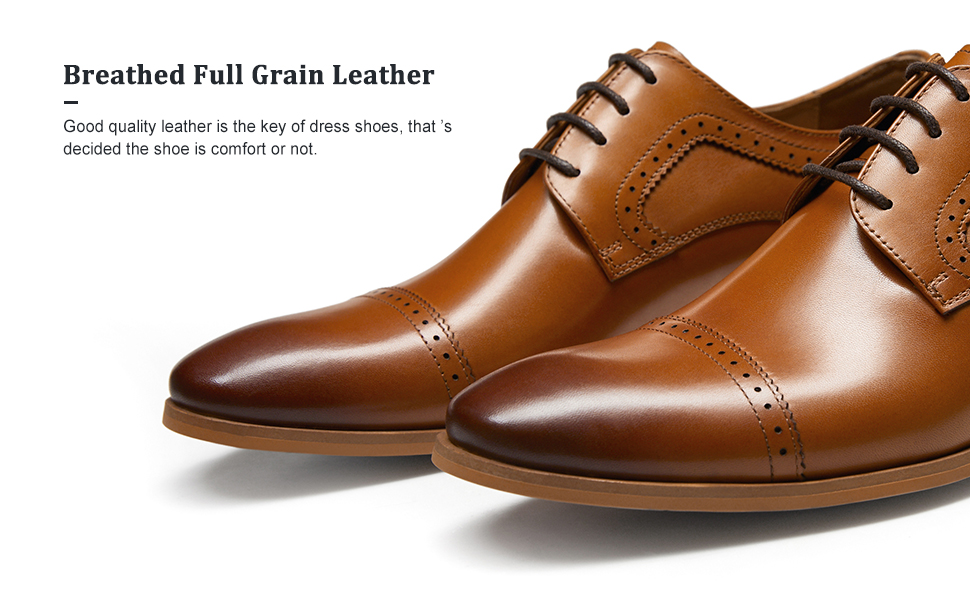 breathed genuine leather shoes