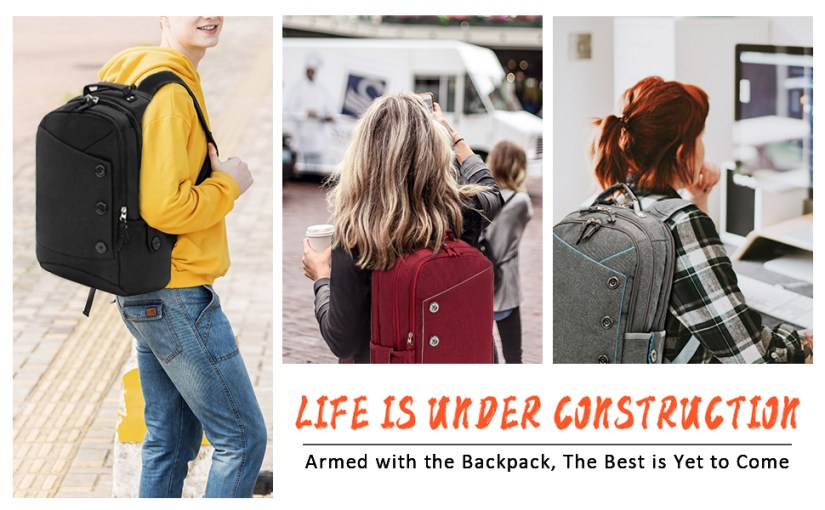 laptop backpack for women men travel work college waterproof  15 15.6 inch