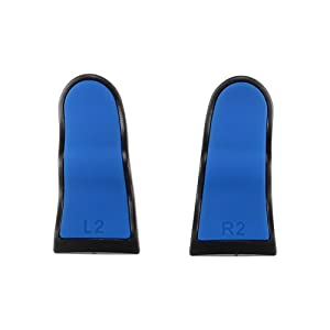 Blue Black L2 R2 Buttons Extention Trigger Buttons for Playstation 4 PS4 Pro Slim Controller 2