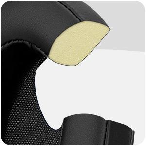 Oval earpads pu leather black