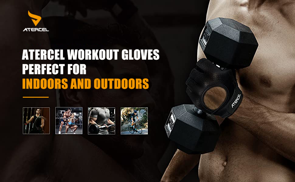 Atercel weight lifting gloves for women workout gloves mens gym