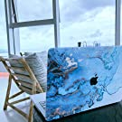 Golden blue marble Case for macbook Air13 in a2159  touch id for  mac book  pro case blue A1932
