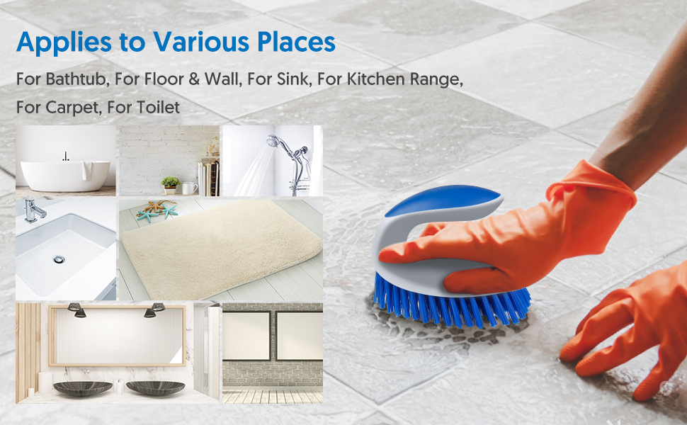 Firm Bristles Attack Dirt, Grime and Mold Without Damaging Tiles