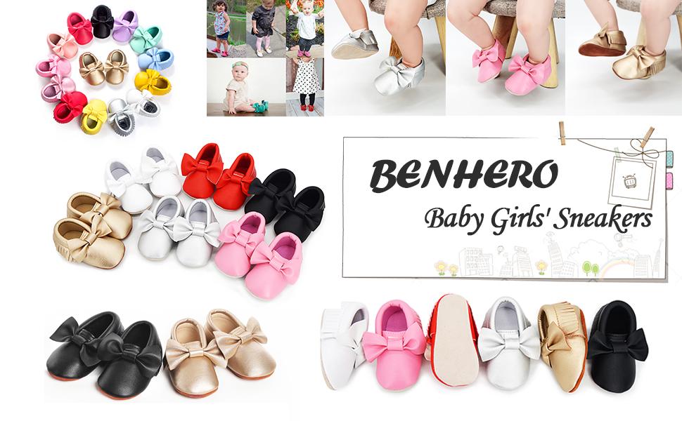 Benhero baby girls' sneakers