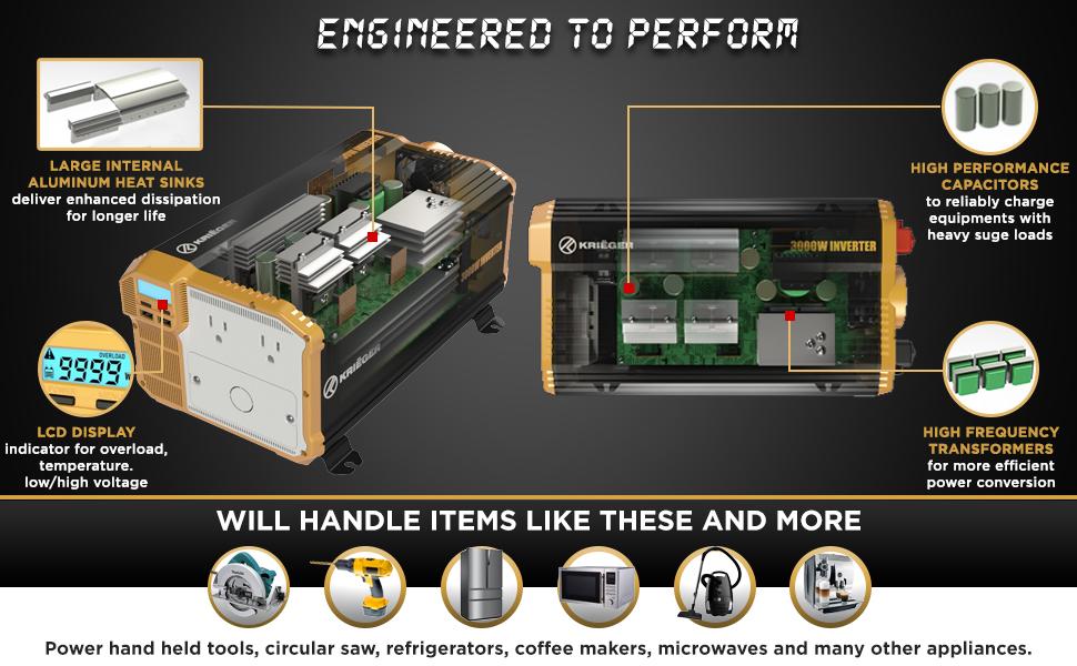ports multi-purpose charging voltcube inversor power generator