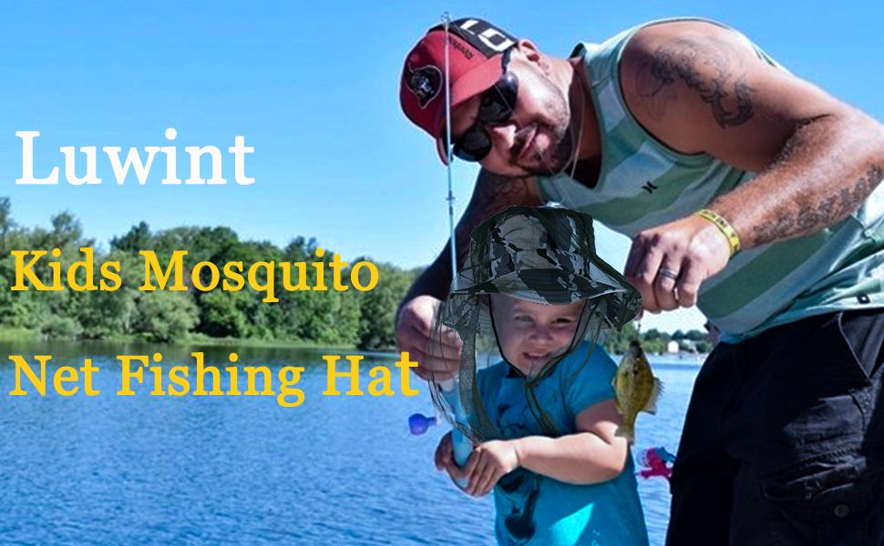 Kids Mosquito Net Fishing Hat