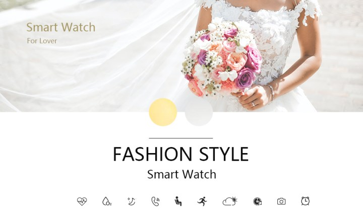 Beautiful Smart Watch for Women IP68 Waterproof Smartwatches Fitness Tracker with Heart Rate Monitor