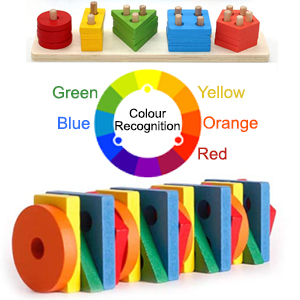 Colour Color Green Yellow Blue Red Orange Bulldozer House Windmill Dog Boy Girl Pink  Recognition