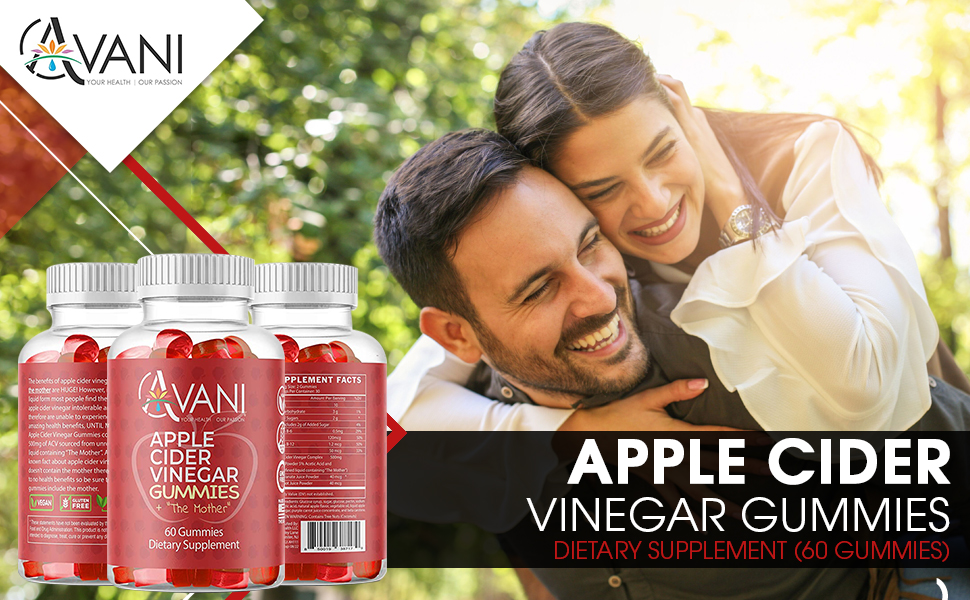 apple cider vinegar gummies acv with the mother detox weight loss clear skin digestion aid