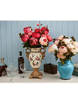 artificial peony flowers for home decoration