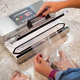 The A100 vacuum sealer is designed to stand