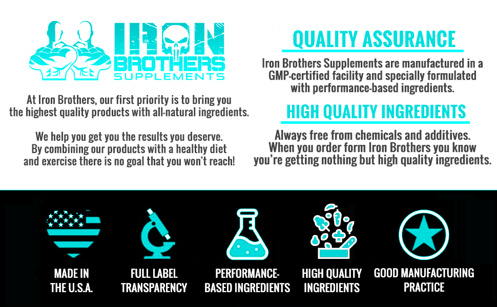 iron brothers high quality performance based ingredients natural ingredients made in the U.S.A