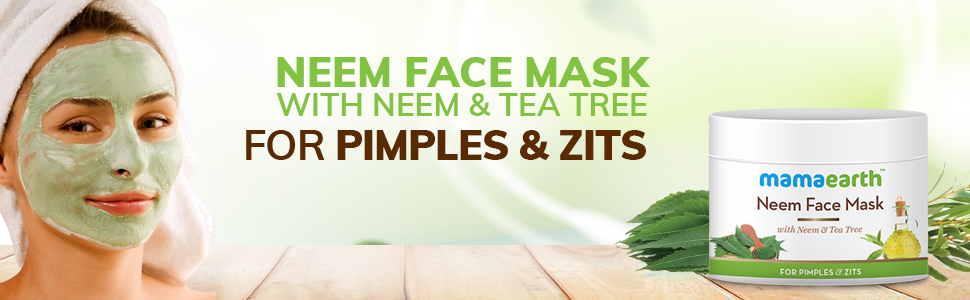 Mamaearth Neem Face Pack, With Neem & Tea Tree For Pimples & Zits 100 ml
