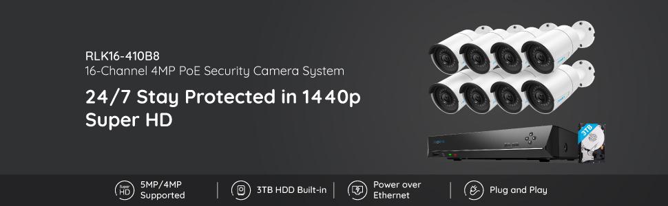 Reolink Security Camera System RLK16-410B8-4MP
