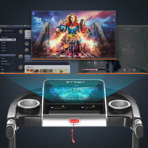 12-inch high-definition color screen: enjoy music and movie playback, make running more intresting
