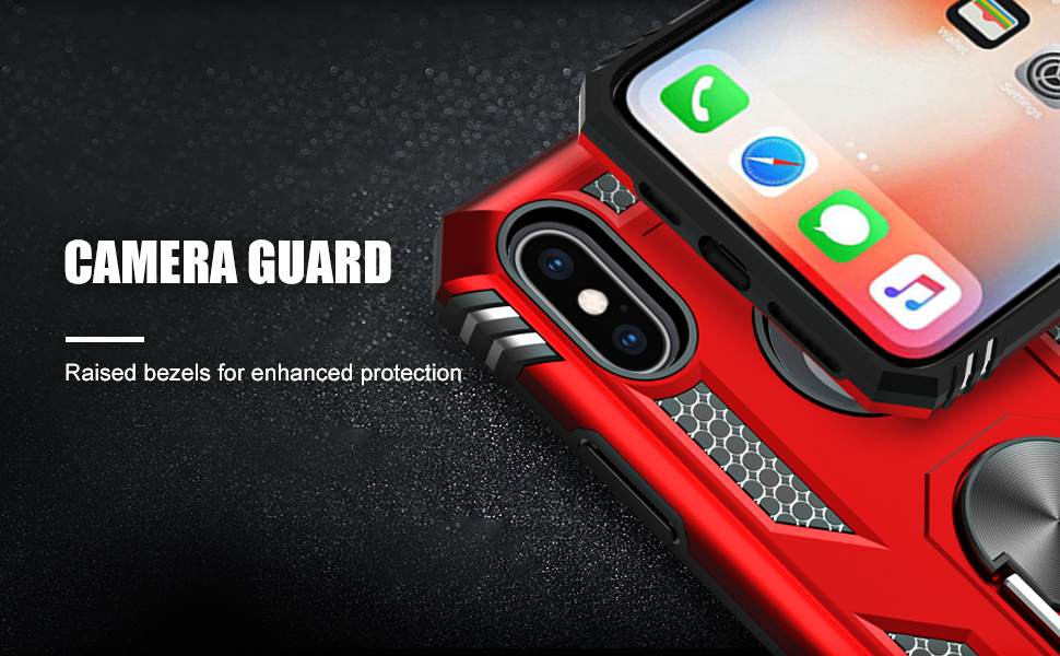 iPhone X case with ring