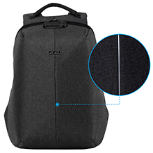 backpack with night security strip