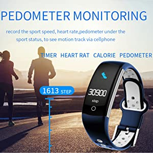 Pedometer watch fitness tracker step counter calories