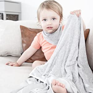 Zalamoon Strollets Soft Knit Baby Toddler Blanket with Satin Trim Corner for Soothing