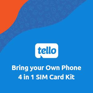 Tello, phone plan, wireless phone plan, data plan, prepaid plan, SIM card, prepaid SIM, save money